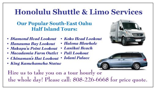 Honolulu Shuttle - Luxury Mercedes-Benz Sprinter Minibus